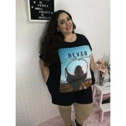 Camiseta vestido never PLUS