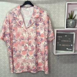 Camisa tropical PLUS coral