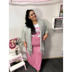 Kimono encaje flecos PLUS