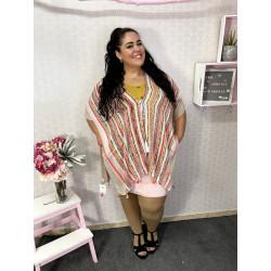 Kimono étnico beige PLUS