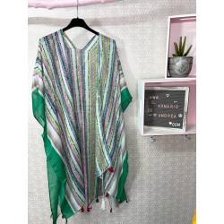 Kimono étnico verde PLUS