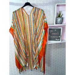 Kimono étnico naranja PLUS