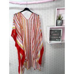 Kimono étnico rojo PLUS