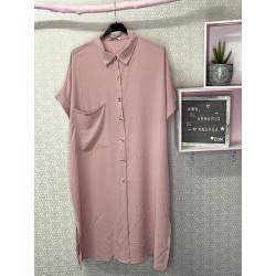 Vestido nerja PLUS rosa pastel