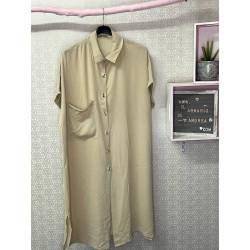 Vestido nerja PLUS beige