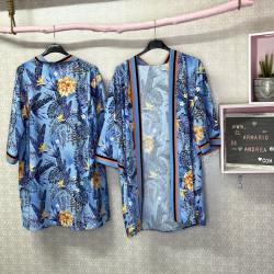 Kimono tropical celeste