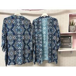 Kimono Granada azul eléctrico