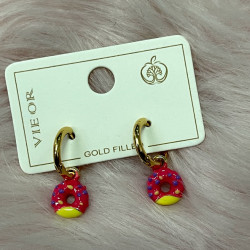 Pendientes goldfilled donuts