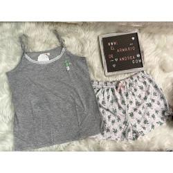 Pijama cactus gris