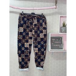 Pantalón patchwork negro PLUS
